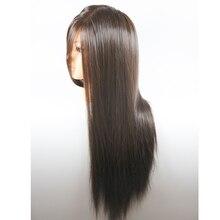 Ausbildung Mannequinkopf Mit Haar 65 cm Kunstfaser Kosmetologie friseurausbildung kopf Puppen Puppe Köpfe Frisuren