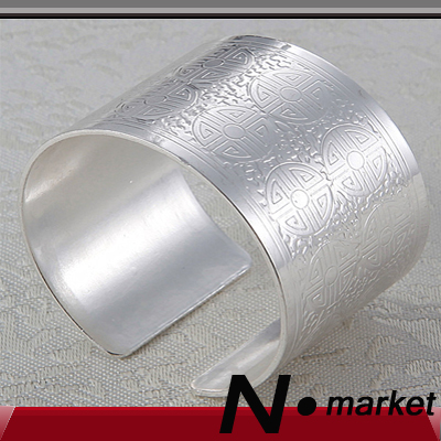 New Chinese Alloy Napkin Rings For Silver Carved Napkin Open Style Rond Holders Table Ring