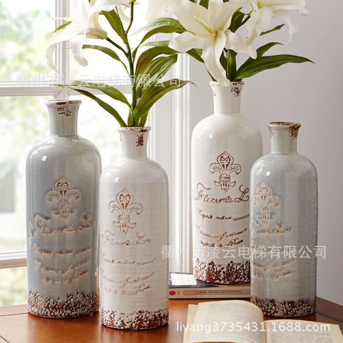 Оптовая продажа, Американская страна, чтобы сделать старинную керамическую вазу для цветов, классические маленькие баночки