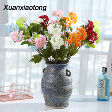 Get more info on the Xuanxiaotong 3 Head Hydrangea Flowers Faux Flowers for Wedding Decoration SnowBall Silk Flowers Home Decor Fake Plant