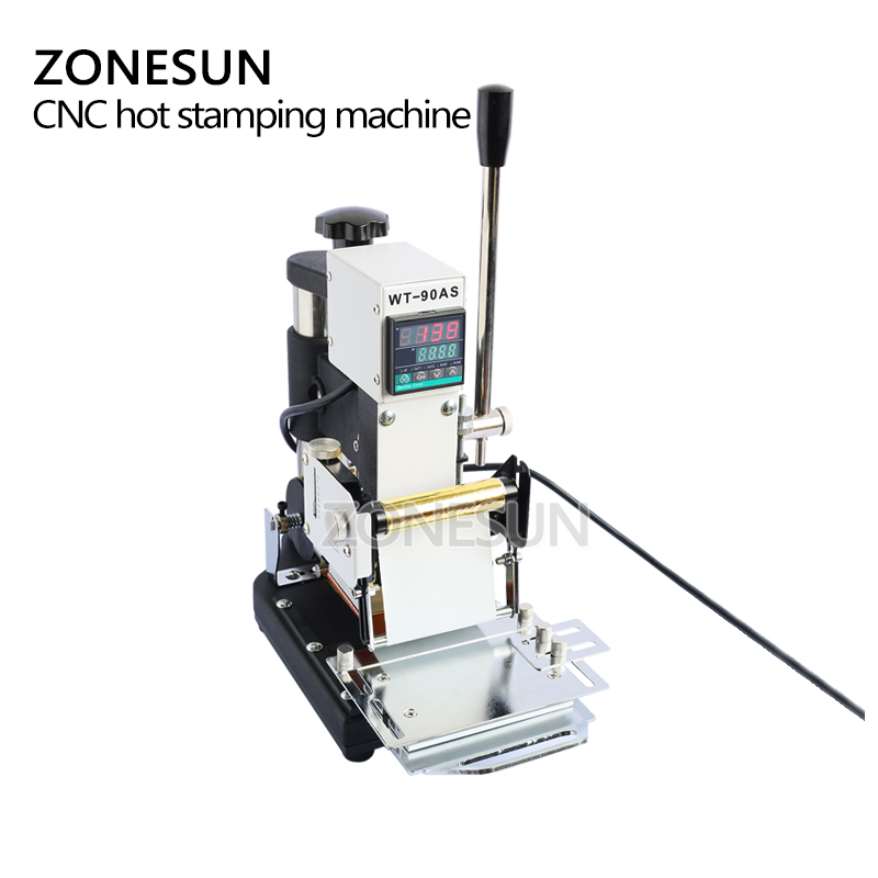 Image 2 - ZONESUN  220V/110V Manual Gold Hot Foil Stamping Machine Tipper Machine,Card Tipper for Leather, PVC Card +2FREE FOmachine machinemachine stampingmachine gold -