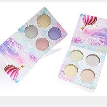 Long-lasting HANDAIYAN Highlighter palette makeup 4 colors face brighten cosmeticseasy to wear 24pcs/lot DHL Free