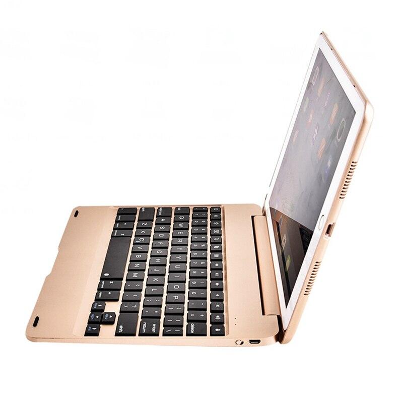 Prix pour Pour Apple Ipad Air 2/Ipad 6 Cas Avec le Design Du Clavier Sans Fil Bluetooth Avec Support Housse De Protection De Luxe ABS en plastique