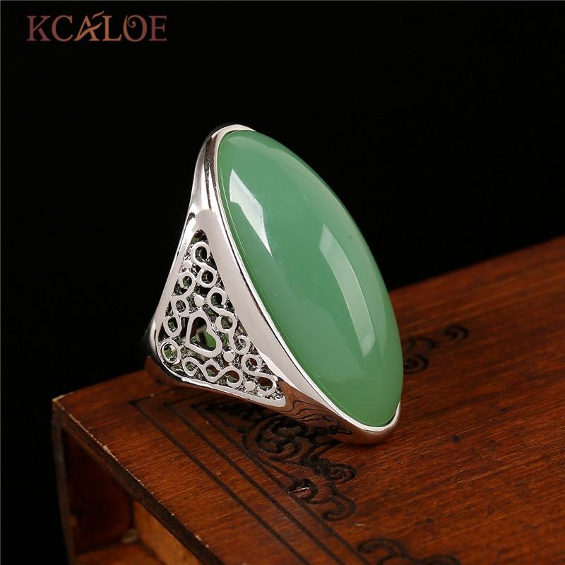 KCALOE natuursteen gele stenen Ring Rose goud kleur sieraden bagues - Mode-sieraden - Foto 3