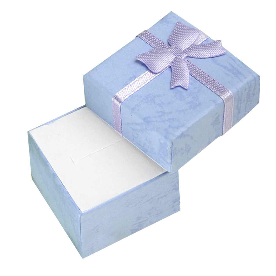 Cheap Hot 10 colors  4*4*3cm Bangle Jewelry Ring Earring Watch Gift Carton Box Bowknot Case Package