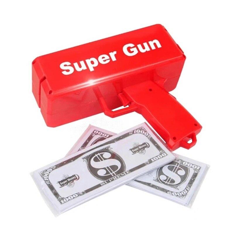 Que Llueva Hacer Pistola Juguete Dinero De Billetes Arma Rojo eDYW29HIE