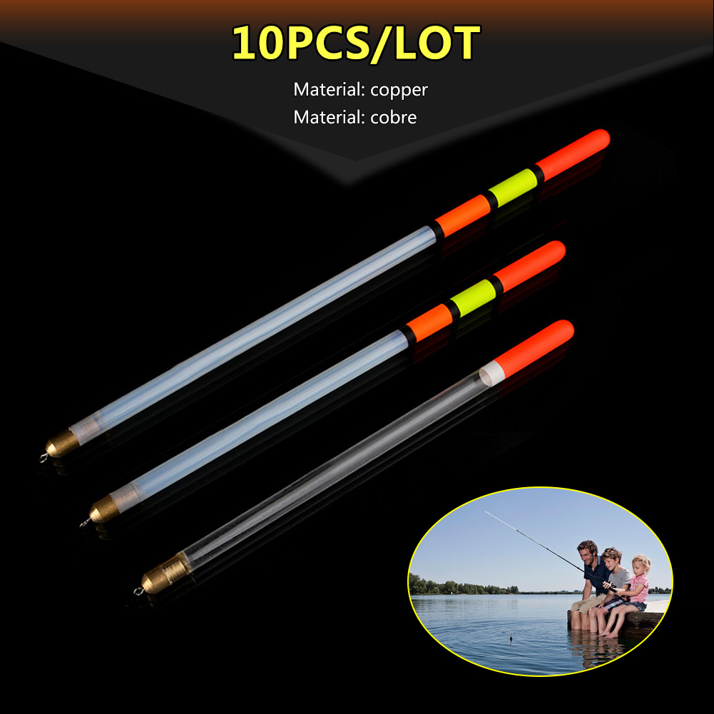10pcs/set Plastic Fishing Floats Transparent Float 2/2.5/3g Fishing Tackle Accessories Stream Plastic Fishing Float-in Fishing Float from Sports & Entertainment