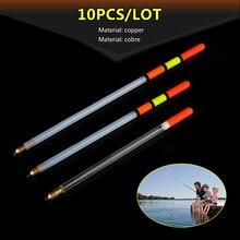 10pcs/set Plastic Fishing Floats Transparent Float 2/2.5/3g Tackle Accessories Stream