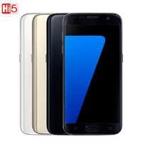 "Original desbloqueado Samsung Galaxy S7 borde G935F/G935V teléfono móvil 4GB RAM 32G ROM Quad Core NFC WIFI GPS 5,5 ""12MP LTE"