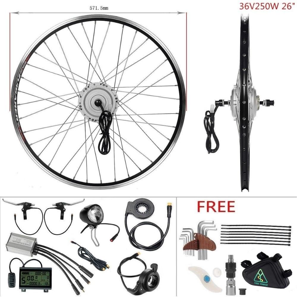 Free Shipping Ebike 36V 250W 26'' Front Wheel Hub Motor Kit Electric Bike Conversion Kit elektrische fiets motor engine bicycle