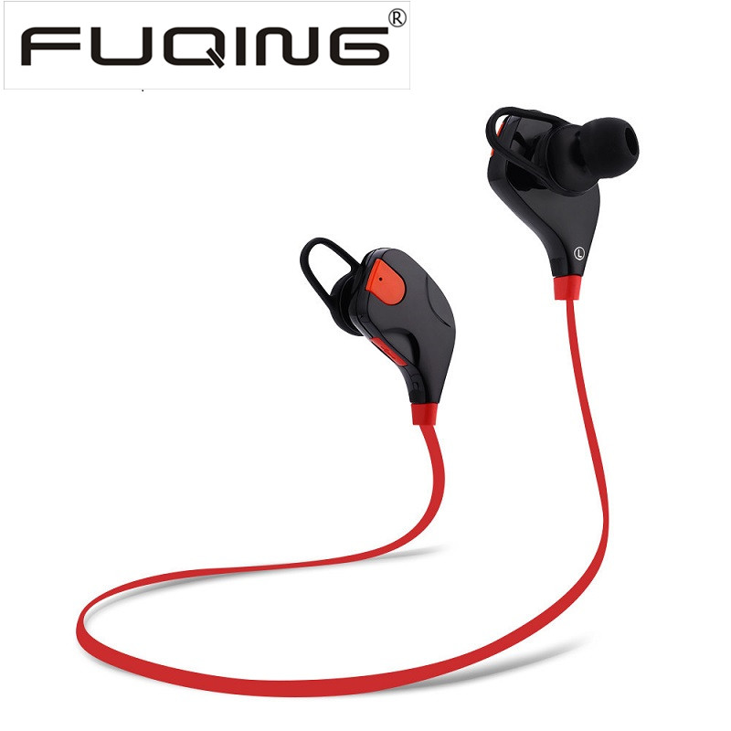 FUQING Wireless Bluetooth earphones headphone Handfree Sport Stereo Headset Earbud with Mic for Player Computer Iphone Samsung factory price binmer bluetooth wireless headset stereo headphone earphone handfree mic for smartphone mmar16 drop shipping