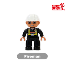 Fireman Duplo Figure Blocks Role-Play Figure Communitry Society Educational Toys