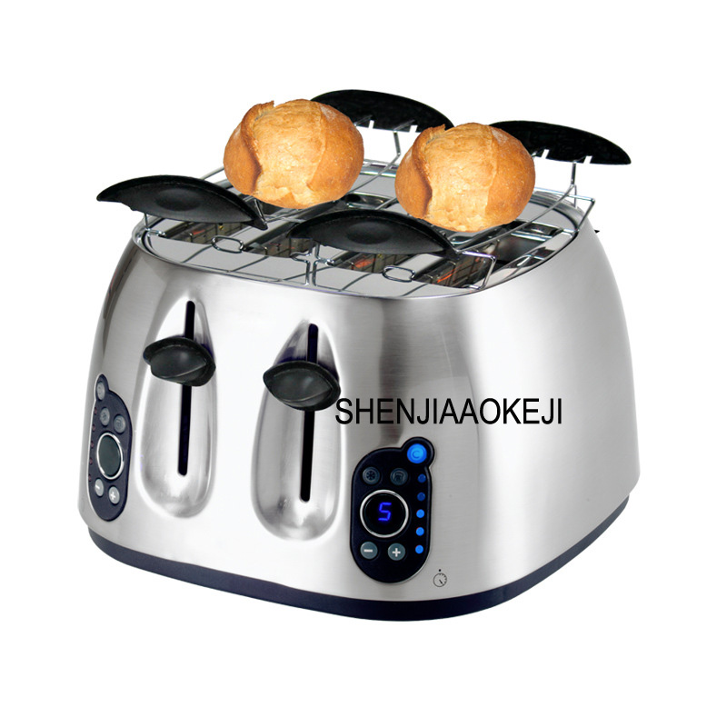 ST-6025 bread toaster Household automatic high-end stainless steel toaster 4 tablets Commercial toaster 220V 1600W 1PCST-6025 bread toaster Household automatic high-end stainless steel toaster 4 tablets Commercial toaster 220V 1600W 1PC