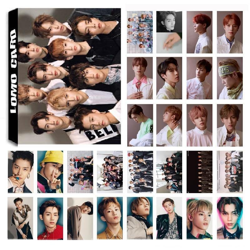 1 Box 30 Teile/satz Kpop Nct 127 Team 02 Album Regelmäßige Hd Foto Karte Pvc Selbst Made Lomo Photocard