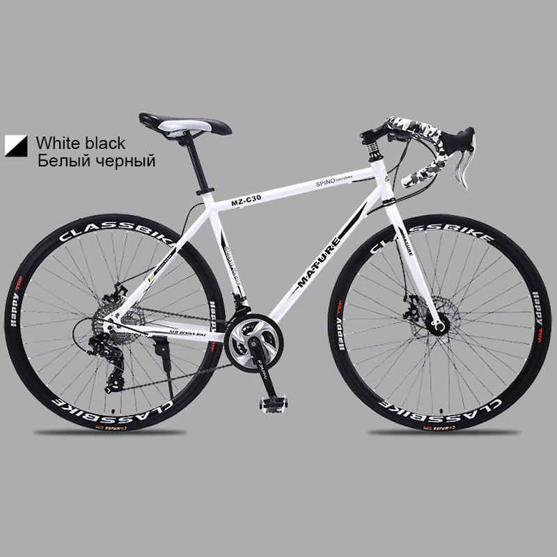 HTB1HkRVbbr1gK0jSZR0q6zP8XXaG 700c road bike 21 27 and 30 variable speed double disc brake ultra light Aluminum alloy road bike adult bicycle