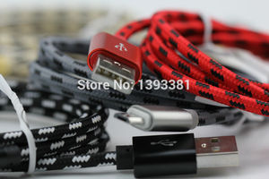 Image 3 - 100pcs 1M 2M 3M New High Speed Metal USB braided Data Fast Charger Cable Micro USB 8 pin Type C Charging Cord For Mobile Phones