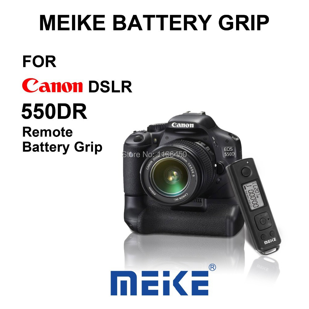 ФОТО MEKE Meike MK 550DR Remote Control Battery Pack Grip for Canon EOS 550D 600D/650D/700D