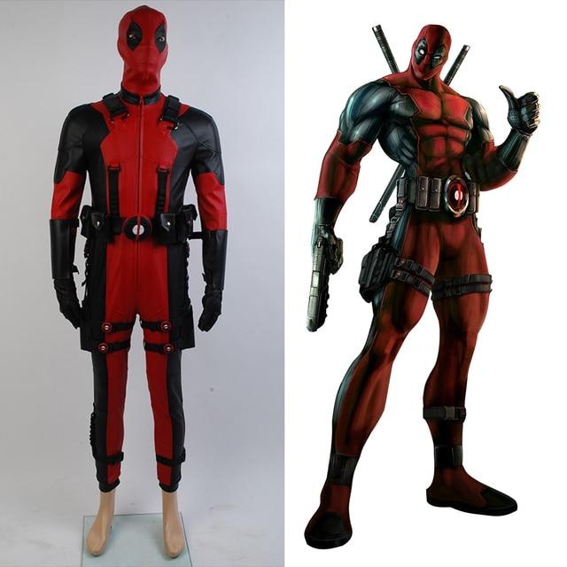 6ffb29c4023350 Deadpool X men Jednolite Halloween Movie Cosplay Kostium Zentai Outift  Ogólnie Kombinezon Kombinezon Dla Dorosłych Mężczyzn
