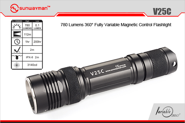 ФОТО SUNWAYMAN V25C cree xm-l2 CR123 18650 tactical camping equipment magnetic flashlight LED torche tactical camping equipment