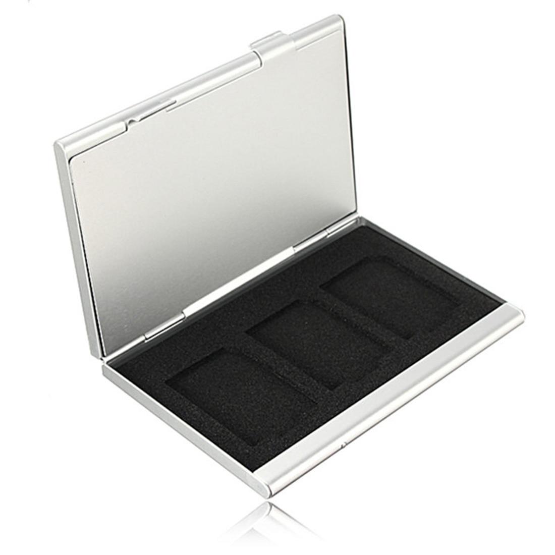 Centechia Top Quality 6 Slots Dougle-desk Aluminum Storage Box For SD SDHC SDXC MMC Memory Card Case Holder Protector