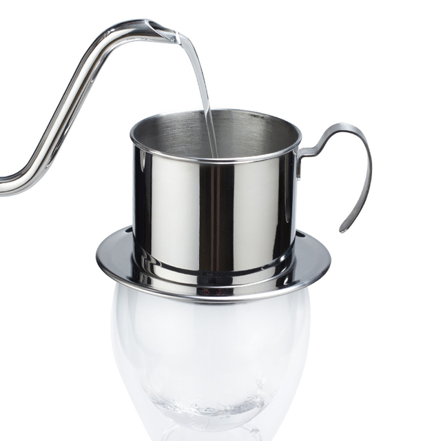 Coffee Maker Pot Stainless Steel Vietnamese Coffee Drip Filter