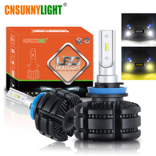 CNSUNNYLIGHT Car CANBUS LED H11 H8 Headlight Fog Lights Fanless 9005 9006 3600Lm 18W/Bulb 3000K Yellow 6000K White Auto Fog Lamp
