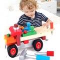Детские Игрушки Ребенок Винт Блок Инжиниринг Автомобилей Деревянные Игрушки Модель Строительство Комплекты Обучения в Раннем Возрасте Развивающие Игрушки Мальчики Подарок