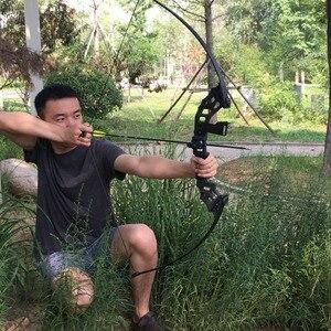 Image 2 - Profissional arco recurvo tiro com arco 40lbs poderosa caça arco terno para a prática de tiro ao ar livre setas acessórios