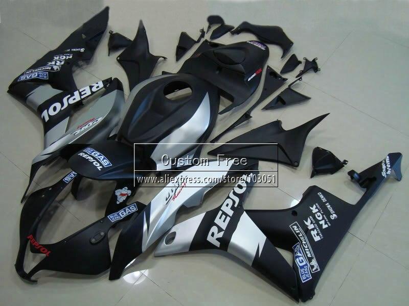 ABS corps D'injection carénages pour Honda CBR 600 RR carénage ensemble 07 08 CBR 600RR CBR600RR 2007 2008 noir repsol moto partie