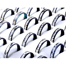 100pcs Lots Black Silver Color Punk Aluminum Rings For Men Wholesale Women Band Ring Jewelry High Quality Cheap Free SHip