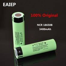 100% New Original NCR18650B 3.7 v 3400 mah 18650 Lithium Rechargeable Battery EAIEP Flashlight batteries