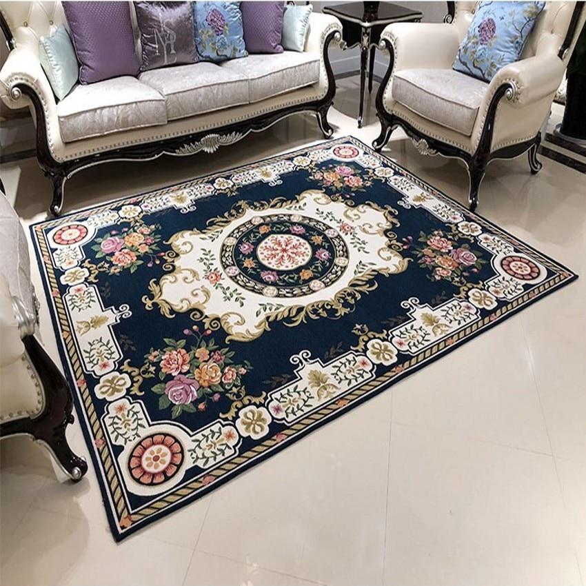 Retro Royal Classical European Floral Living Room Rug, Big