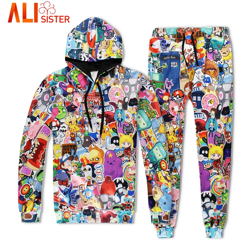 Aliexpress Com Buy Alisister Adventure Time Hoodies Set