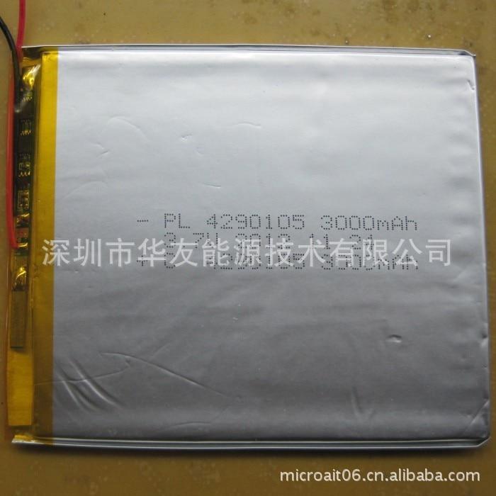 Tootjad tarnivad 4290105 3000mah liitiumpolümeer aku - Tahvelarvutite tarvikud - Foto 2