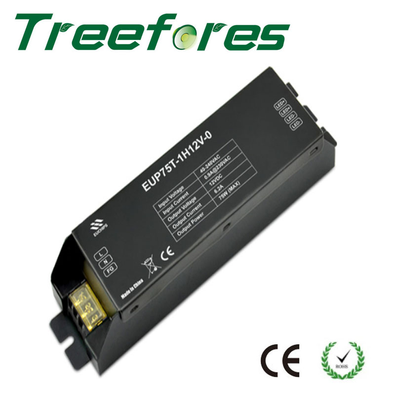 Triac 12W 40W 75W Leading Trail Edge Dimmable LED Driver DC 12V 24V Power Supply Dimming Transformer CE RoHS free shipping triac 220v dimmable driver triac dimming led controller 1 channel 75w dm9123h t series