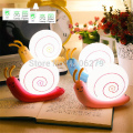 LED  energy-saving snail night light rechargeable bedroom night lamp creative desk lamp indoor lamp baby wall light 150814