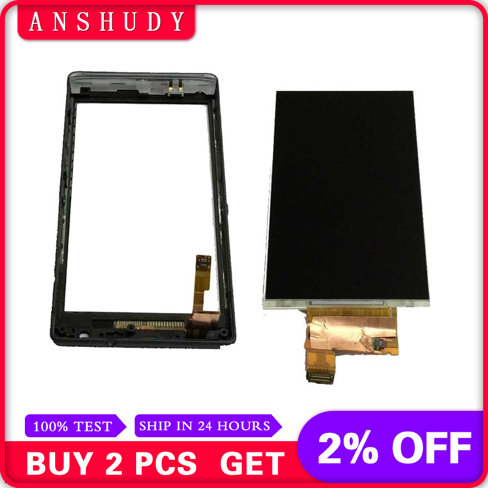 Black For Sony Xperia SP M35H C5302 C5303 C5306 LCD Display Panel Monitor + Touch Screen Digitizer Sensor Glass with Frame BezelBlack For Sony Xperia SP M35H C5302 C5303 C5306 LCD Display Panel Monitor + Touch Screen Digitizer Sensor Glass with Frame Bezel