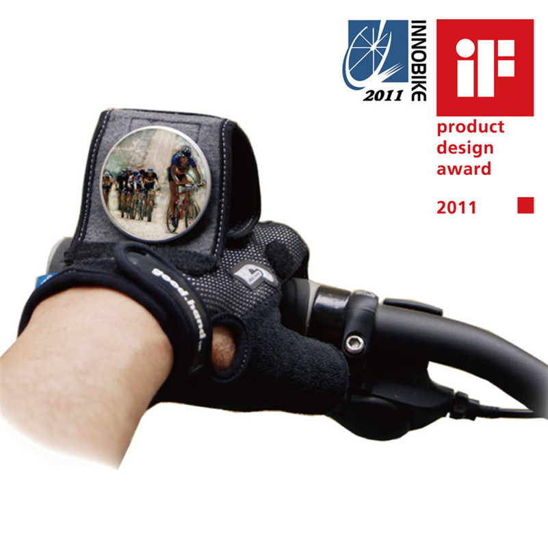 good.hand Cycling Gloves Bike Back Mirror Half Finger Bicycle Gloves with Built-in Back Mirror Ciclismo luva Guantes Bike Gloves racmmer cycling gloves guantes ciclismo non slip breathable mens
