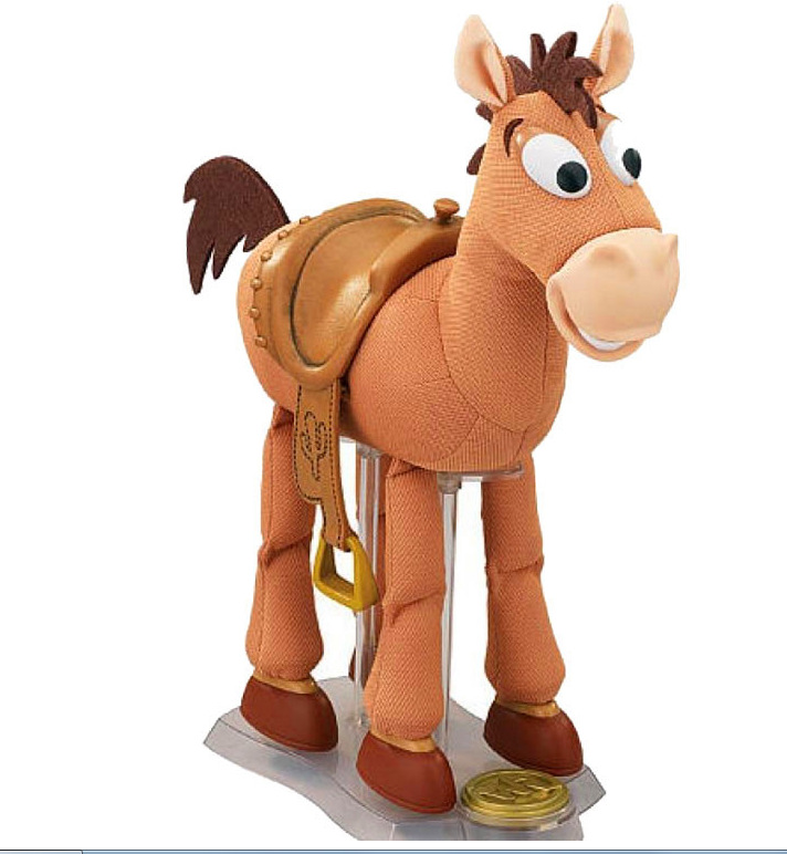 Toy Story Woody Jessie Horse Bullseye Music Sound Effect Vibration35cm PVC Action Figure Collectible Model Toy 5 12cm 9pcs set toy story buzz lightyear woody jessie pvc action figure toys