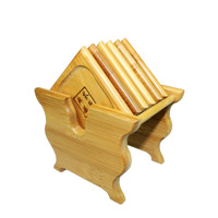Wholesale Supply Of Tea Accessories Asia Pacific Bamboo Support Box Saucer Pad Vertical Square Bamboo