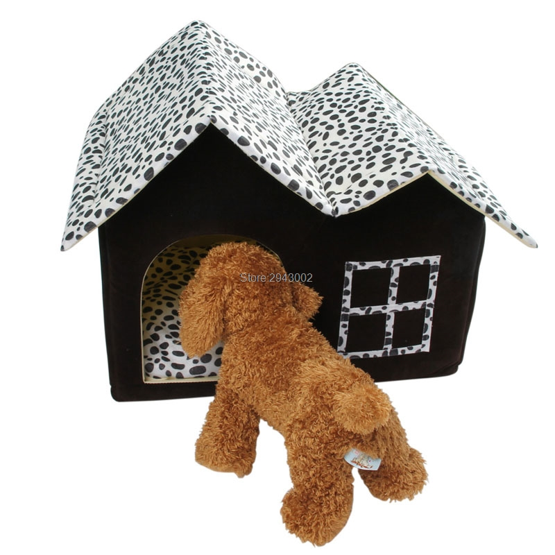 Puppy Dog Cat Warm Kennel Sleep Bed Room Luxury Pet House Spot Double Top