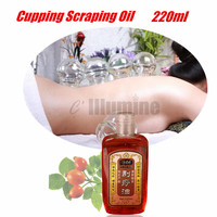Chinese Traditional Cupping Scraping Theropy Pure Natural Ingredients Oil Maasage Relief Relax Aromatheropy Beauty Salon 220ml