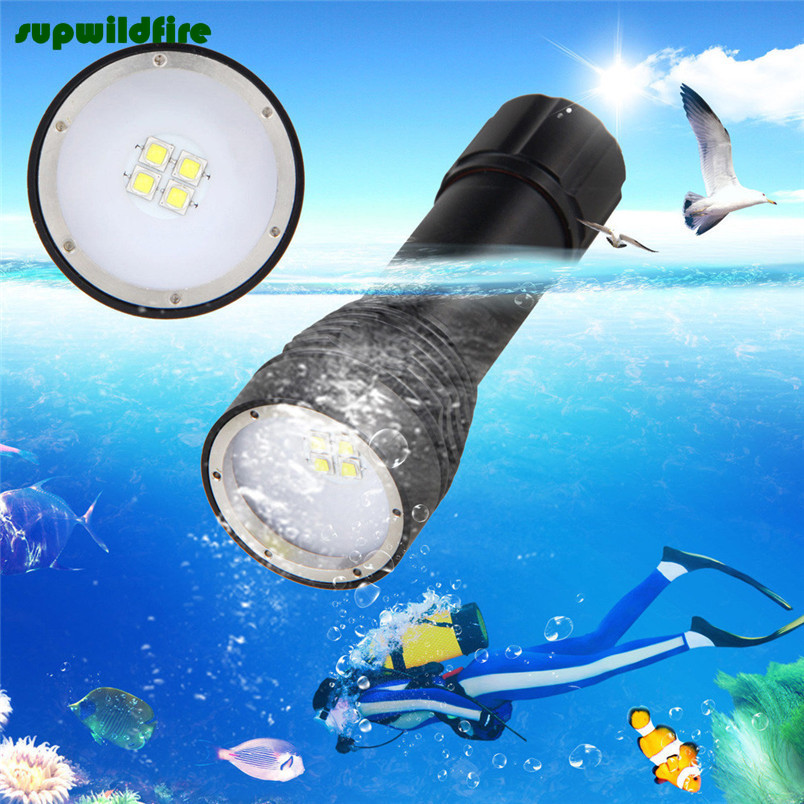 8000LM 4x XML L2 LED Underwater 100M Scuba Diving Flashlight Torch 26650 Lamp Free Shipping #NO15 купить