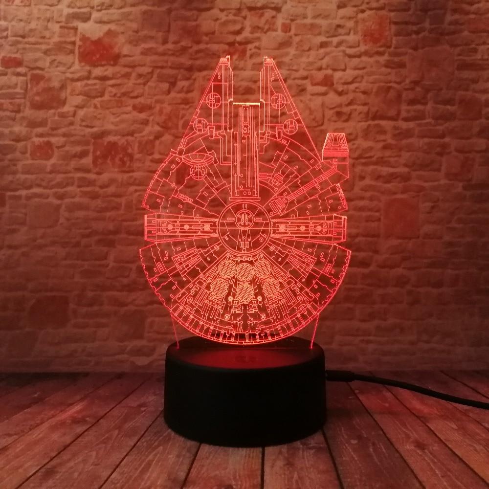 Star Wars Legends Novedad Nave espacial 3D Night Light Smart 7 Color - Luces nocturnas - foto 2