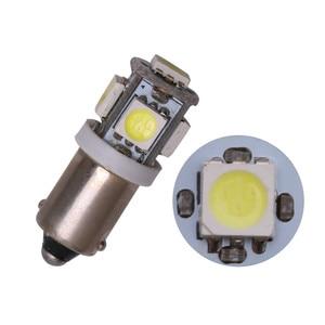 Image 4 - 10 Uds T11 BA9S 5050 5 SMD bombilla LED blanca fuente de luz del coche 12V lámpara T4W 3886X H6W 363 de alta calidad