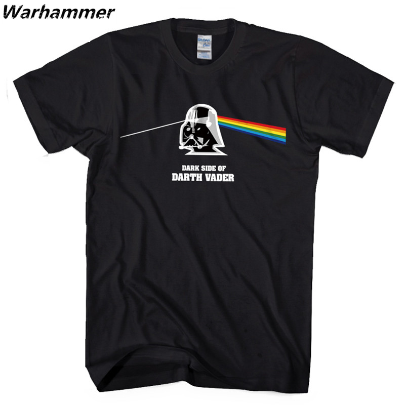 Warhammer Starwar Kuso T-shirt Men Darth Vader Cotton Short O-Neck T shirt Homme Game Summer XXL Couple Funny Pink Floyd T shirt