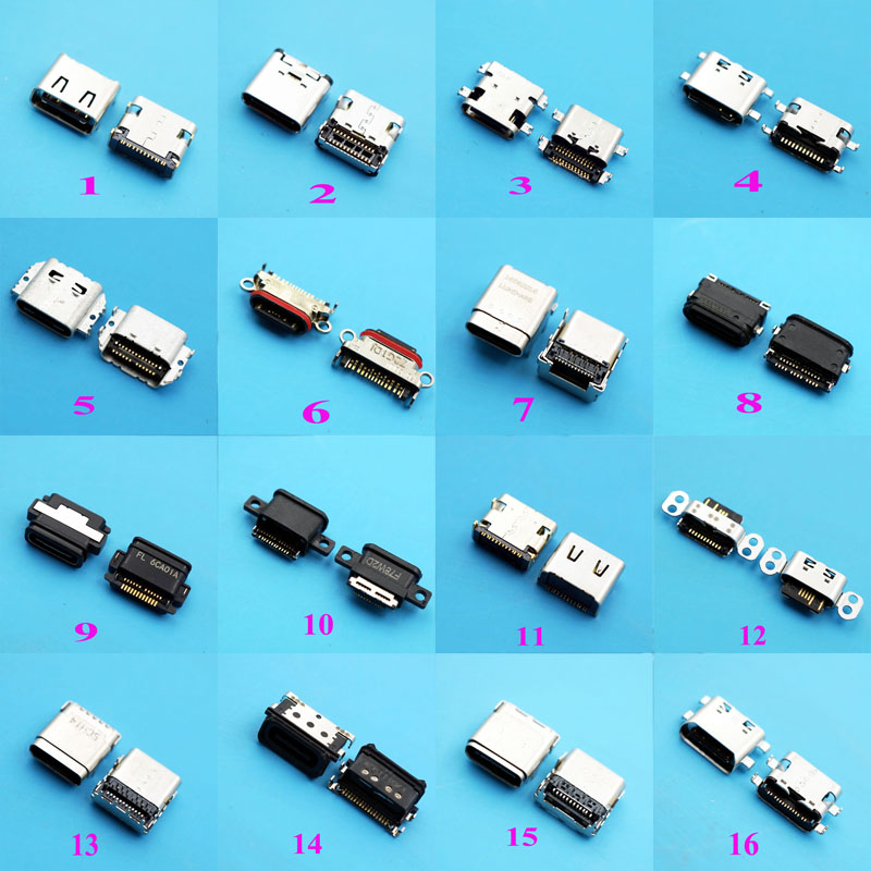 90pcs Type C 3 1 USB Power Mother Socket Micro 3 1 USB C Connector SMT