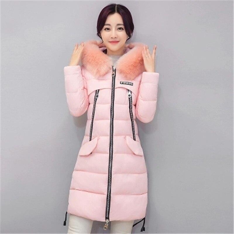 ФОТО 2017 Winter Women Korean version New Slim Warm Hooded Women Cotton-padded jacket Medium long Thick Fashion Women Outerwear OK12