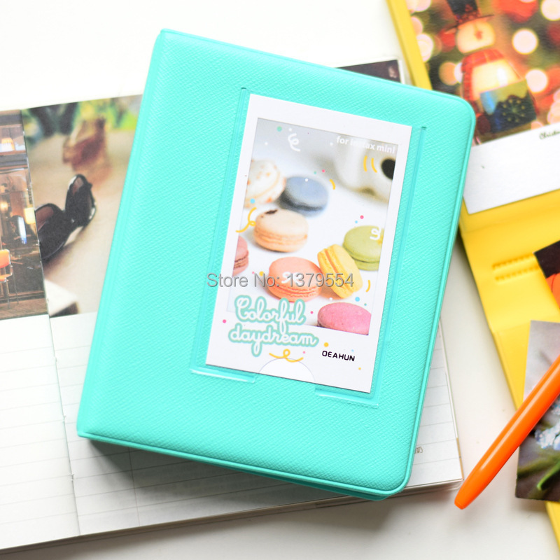 HOT SELLING New 64 Pockets Polaroid photo picture Album Case fuji Film Instax Mini Size 10colors - GREAT TRADING CO., LIMITED store