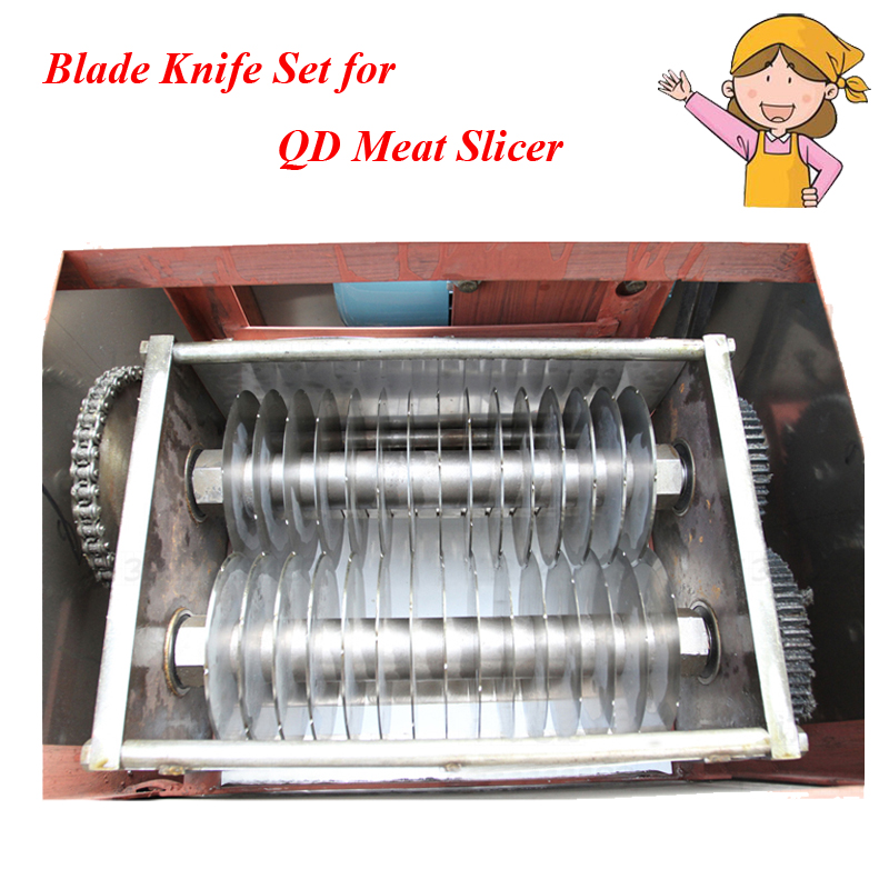Meat Cutter Blade Knife for QD Meat Cutting Machine Cutting Blade Thickness 2-20mm (can make to order special ) QD blades cutting machine blade tape double sided adhesive circular knife cutting blade